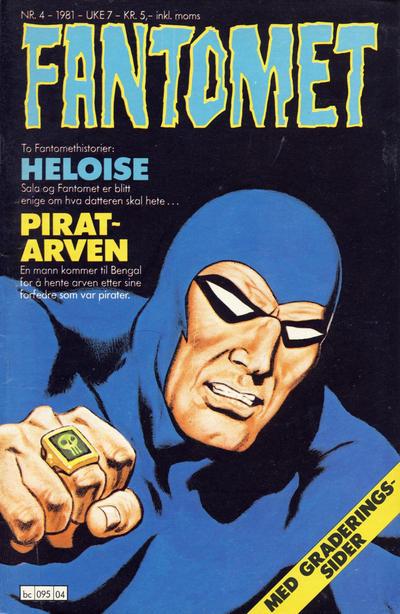 Cover for Fantomet (Semic, 1976 series) #4/1981