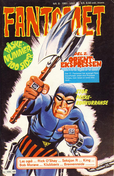 Cover for Fantomet (Semic, 1976 series) #8/1981