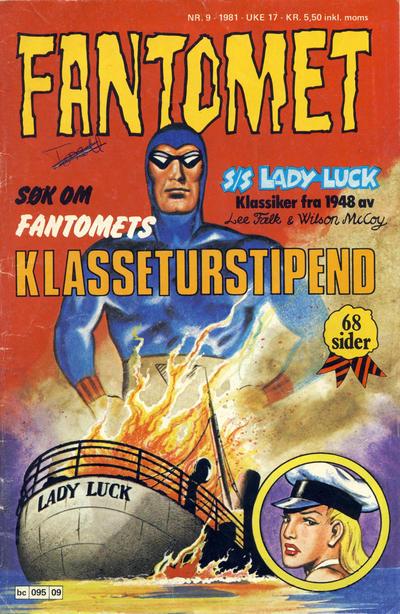 Cover for Fantomet (Semic, 1976 series) #9/1981