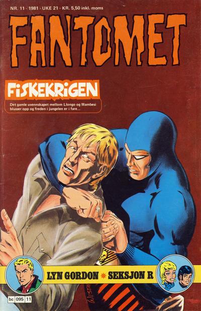 Cover for Fantomet (Semic, 1976 series) #11/1981