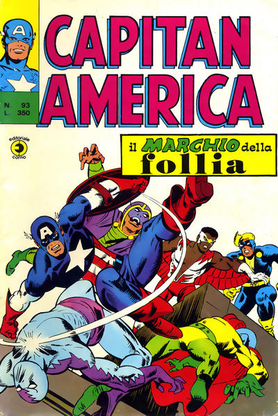 Cover for Capitan America (Editoriale Corno, 1973 series) #93