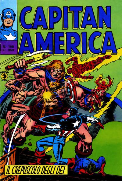 Cover for Capitan America (Editoriale Corno, 1973 series) #108