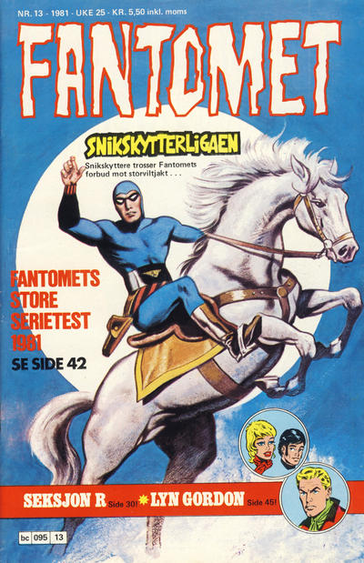 Cover for Fantomet (Semic, 1976 series) #13/1981