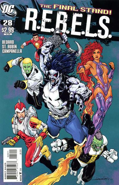Cover for R.E.B.E.L.S. (DC, 2009 series) #28
