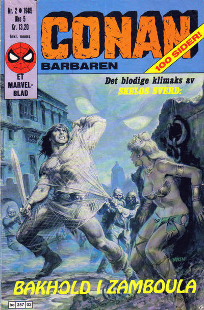 Cover for Conan (Semic, 1984 series) #2/1985