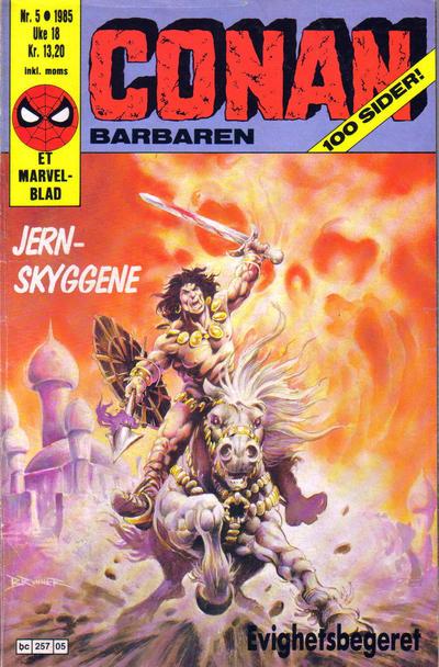 Cover for Conan (Semic, 1984 series) #5/1985