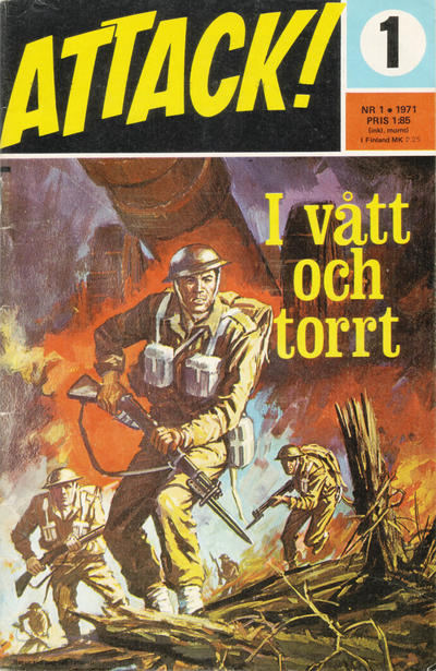 Cover for Attack (Semic, 1967 series) #1/1971