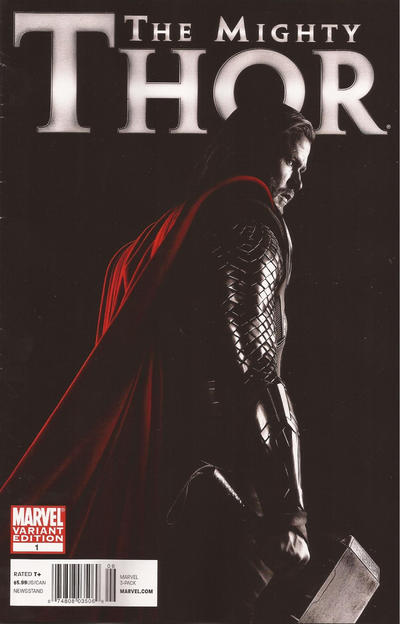 Cover for The Mighty Thor (Marvel, 2011 series) #1 [Variant Edition - Blank Cover]