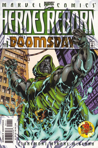Cover for Heroes Reborn: Doomsday (Marvel, 2000 series) #1 [Direct Edition]