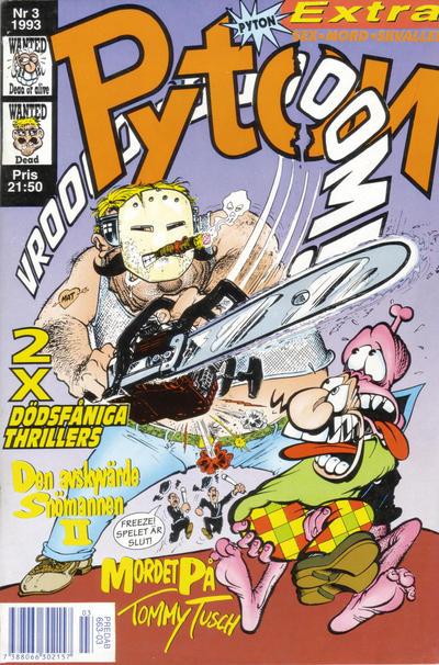 Cover for Pyton (Atlantic Förlags AB, 1990 series) #3/1993