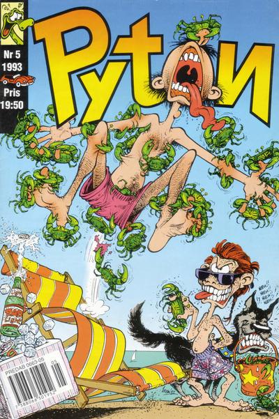 Cover for Pyton (Atlantic Förlags AB, 1990 series) #5/1993