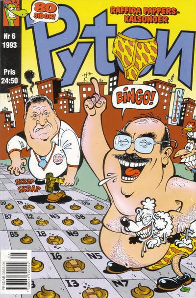 Cover for Pyton (Atlantic Förlags AB, 1990 series) #6/1993