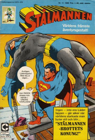 Cover for Stålmannen (Centerförlaget, 1949 series) #11/1969