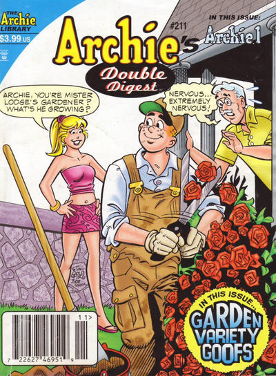 Cover for Archie's Double Digest Magazine (Archie, 1984 series) #211 [Direct]