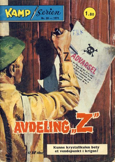 Cover for Kamp-serien (Serieforlaget / Se-Bladene / Stabenfeldt, 1964 series) #20/1971