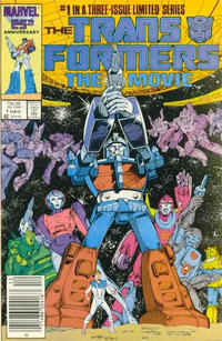 Cover Thumbnail for Transformers: The Movie (Marvel, 1986 series) #1 [Newsstand Edition]