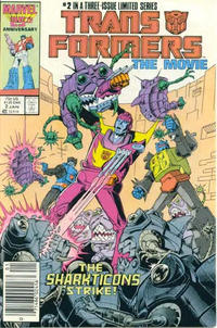 Cover Thumbnail for Transformers: The Movie (Marvel, 1986 series) #2 [Newsstand Edition]
