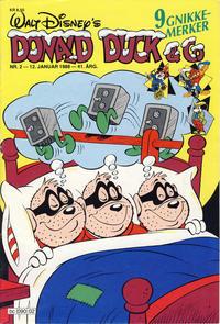 Cover Thumbnail for Donald Duck & Co (Hjemmet / Egmont, 1948 series) #2/1988