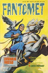 Cover Thumbnail for Fantomet (Semic, 1976 series) #26/1981