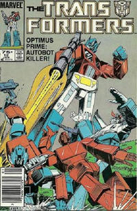 Cover Thumbnail for The Transformers (Marvel, 1984 series) #12 [Newsstand Edition]