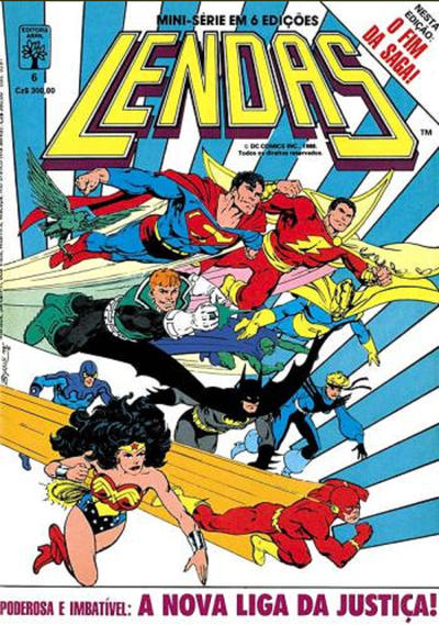 Cover for Lendas (Editora Abril, 1988 series) #6