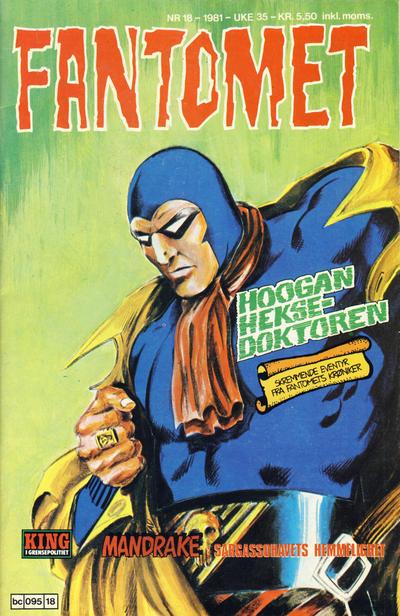 Cover for Fantomet (Semic, 1976 series) #18/1981