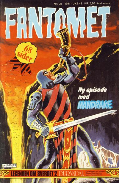 Cover for Fantomet (Semic, 1976 series) #23/1981