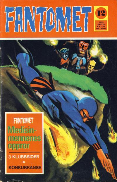 Cover for Fantomet (Nordisk Forlag, 1973 series) #12/1973