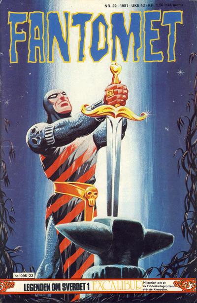 Cover for Fantomet (Semic, 1976 series) #22/1981