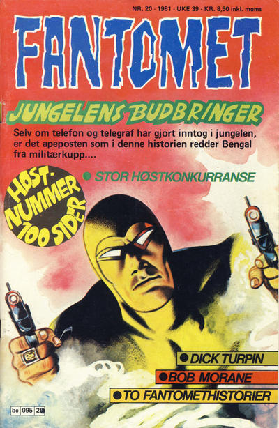 Cover for Fantomet (Semic, 1976 series) #20/1981