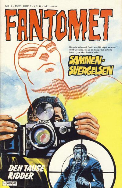 Cover for Fantomet (Semic, 1976 series) #2/1982