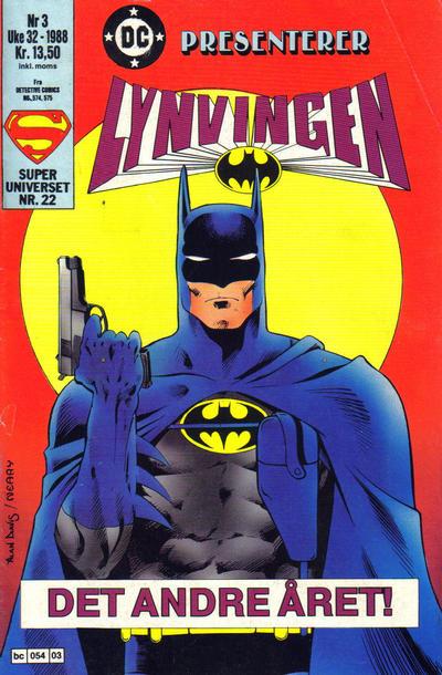 Cover for DC presenterer (Semic, 1988 series) #3/1988