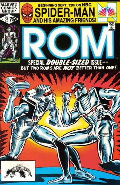 Cover for ROM (Marvel, 1979 series) #25 [Newsstand Edition]