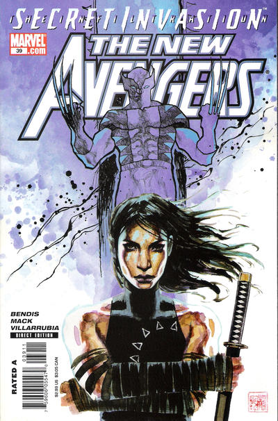 Cover for New Avengers (Marvel, 2005 series) #39 [Direct]