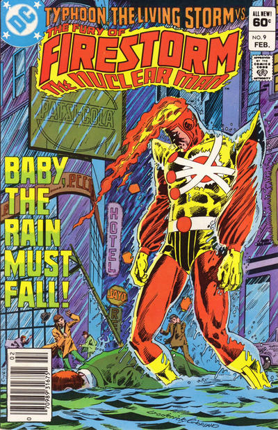 Cover for The Fury of Firestorm (DC, 1982 series) #9 [Newsstand]