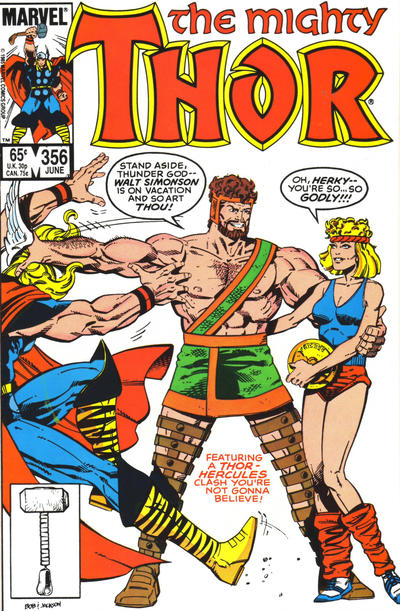 Cover for Thor (Marvel, 1966 series) #356 [Newsstand]