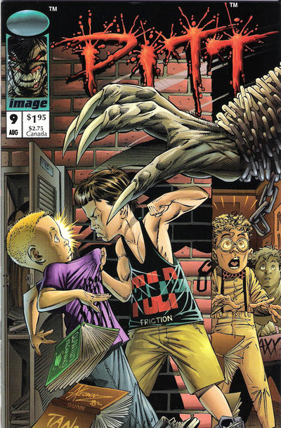 Cover for Pitt (Image, 1993 series) #9 [Newsstand Edition]