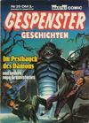 Cover for Gespenster Geschichten (Bastei Verlag, 1980 series) #25