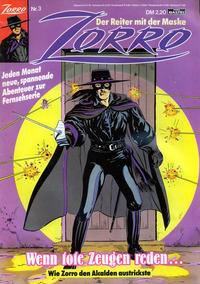 Cover Thumbnail for Zorro (Bastei Verlag, 1991 series) #3