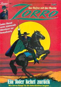 Cover Thumbnail for Zorro (Bastei Verlag, 1991 series) #1