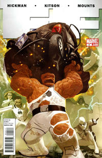 Cover for FF (Marvel, 2011 series) #4 [Second Printing]