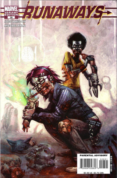 Cover for Runaways (Marvel, 2005 series) #28 [Zombie Variant Edition]