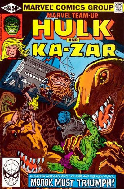 Cover for Marvel Team-Up (Marvel, 1972 series) #104 [Direct Edition]