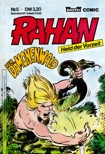 Cover for Rahan (Bastei Verlag, 1984 series) #5