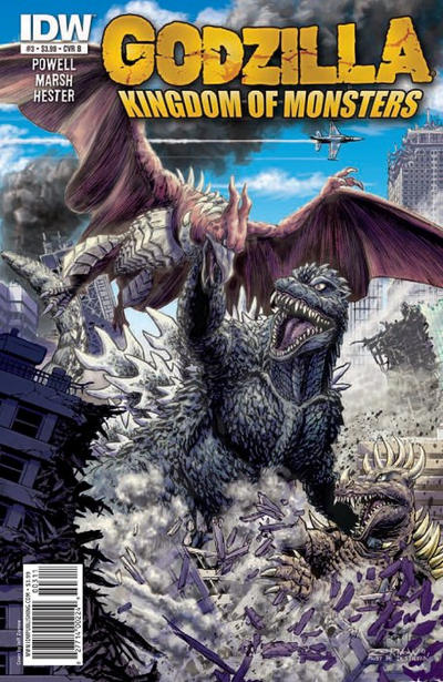 Cover for Godzilla: Kingdom of Monsters (IDW, 2011 series) #3 [Cover A]