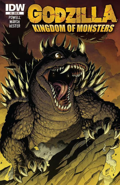 Cover for Godzilla: Kingdom of Monsters (IDW, 2011 series) #3 [Cover B]