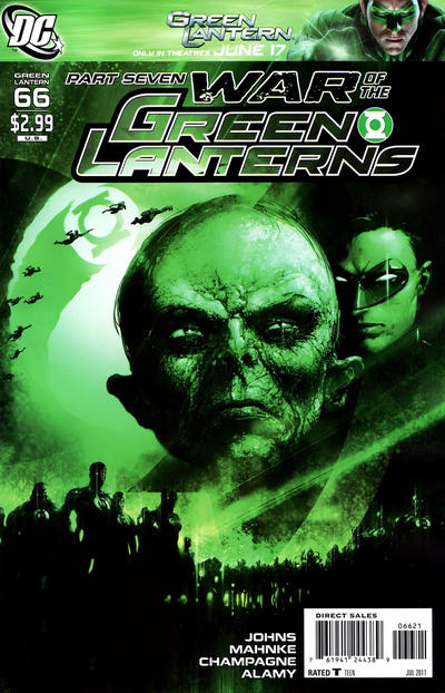 Cover for Green Lantern (DC, 2005 series) #66 [Clayton Crain Variant Cover]