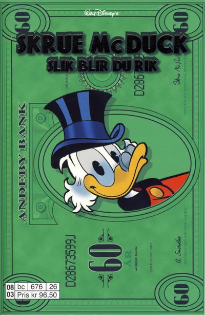 Cover for Donald Duck Tema pocket; Walt Disney's Tema pocket (Hjemmet / Egmont, 1997 series) #Skrue McDuck slik blir du rik