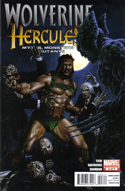 Cover for Wolverine / Hercules: Myths, Monsters & Mutants (Marvel, 2011 series) #3