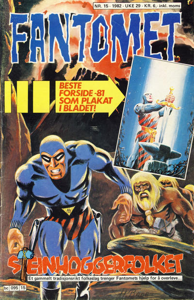 Cover for Fantomet (Semic, 1976 series) #15/1982